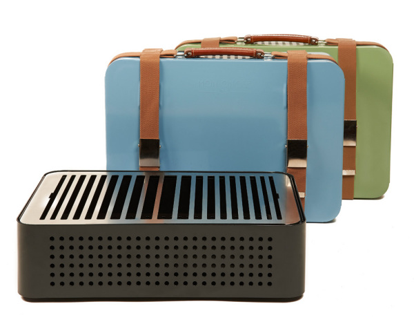 Ретро-чемодан с барбекю.