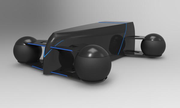 Концепт спорткара Roller 1