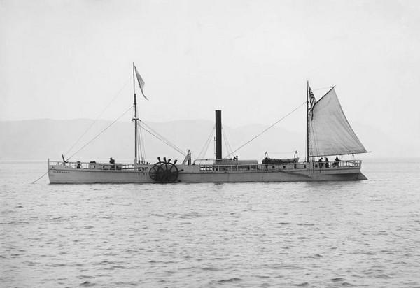 Clermont – первый пароход от Роберта Фултона. Источник фото: Википедия