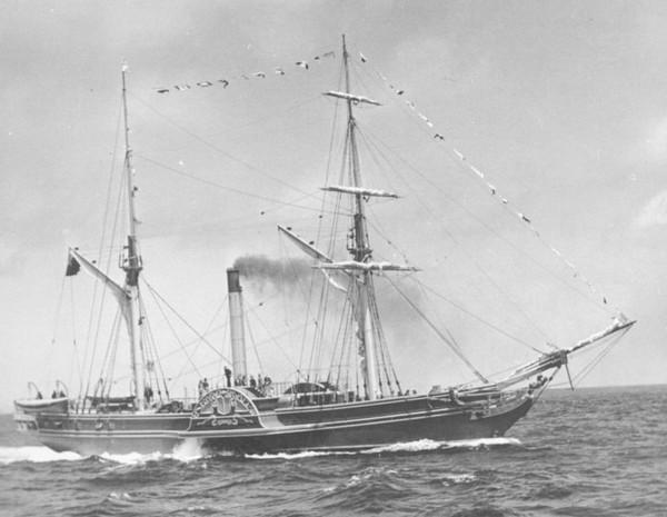 Sirius – первый трансатлантический переход на пару. Источник фото: maritimequest.com