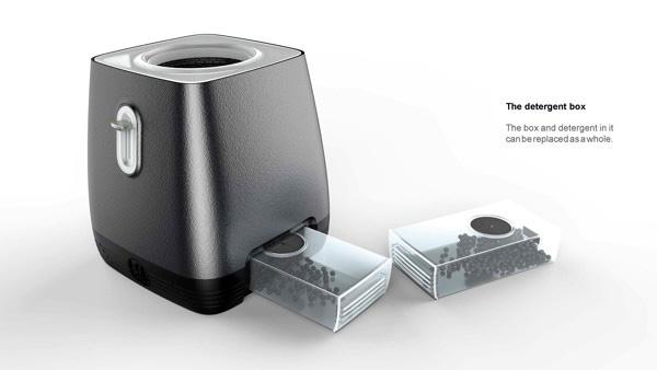 Toaster-L имеет съемный отсек для моющего средства