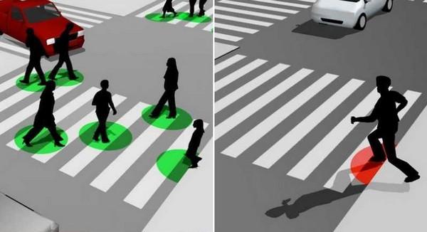 Разноцветная подсветка пешеходов на переходе. Источник фото: marbella4.com