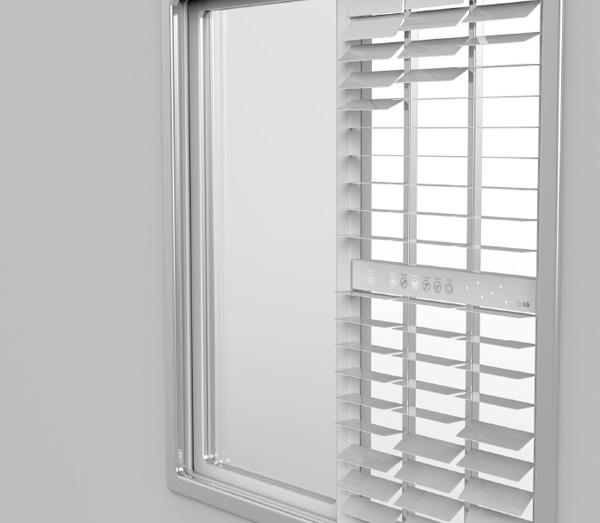 Концепт оконного фильтра Windows Air Purifier