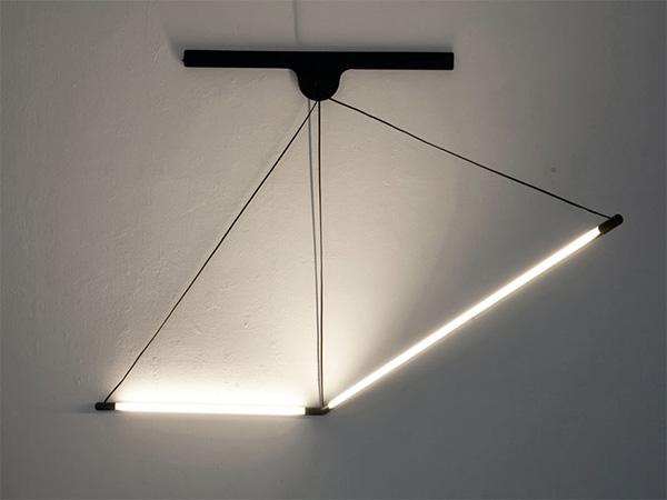 Тонкий модульный светильник от Geoffroy Gillant.
