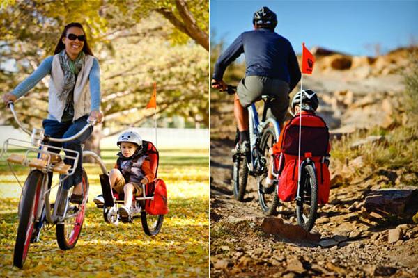 Безопасный велотрейлер для детей от 2 до 9 лет.