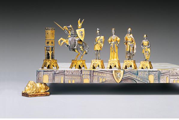 Средневековый венецианский комплект шахмат