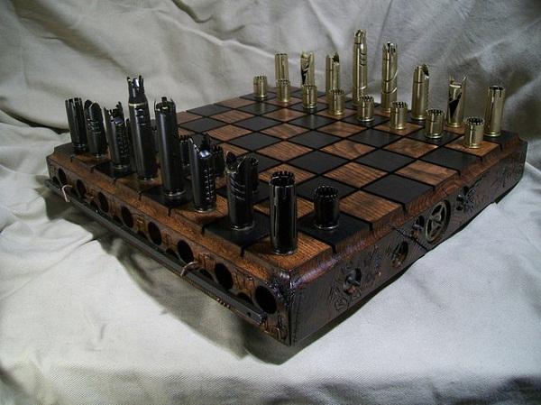 Шахматы в стиле стимпанк