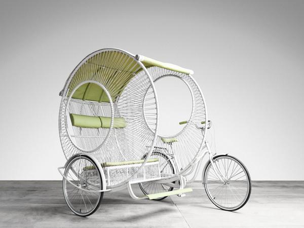Eclipse: современная рикша от дизайнера Kenneth Cobonpue