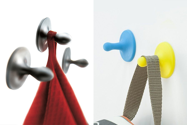Дизайнерские крючки-присоски.