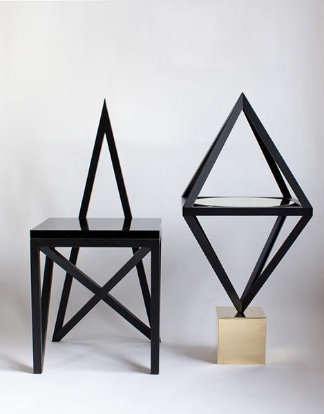 Необычная черная мебель Material Lust