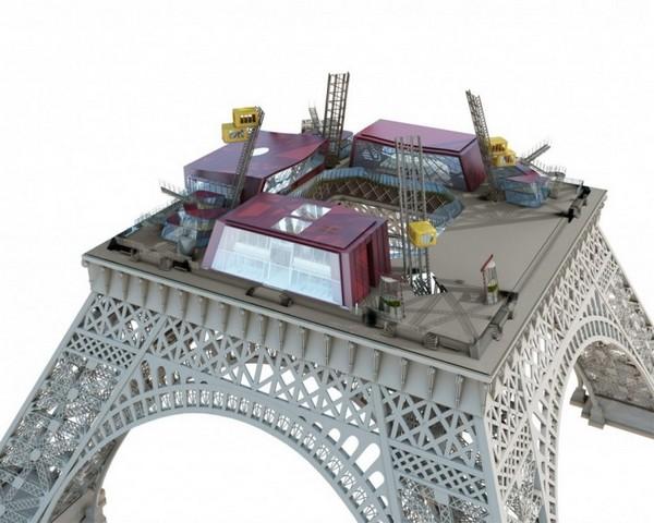 Солнечная реконструкция Эйфелевой башни. Источник фото: Moatti-Rivière