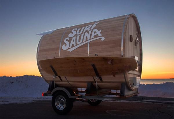 Сауна-трейлер - место, где можно согреться и отдохнуть.