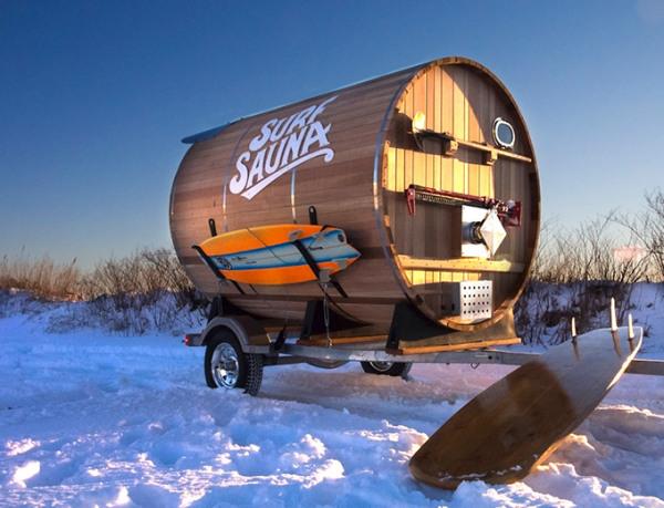 Surf-Sauna - сауна на колесах для серферов и любителей путешествий.