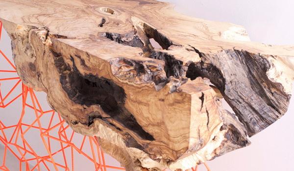 The Millennial Console: мебель из оливкового дерева