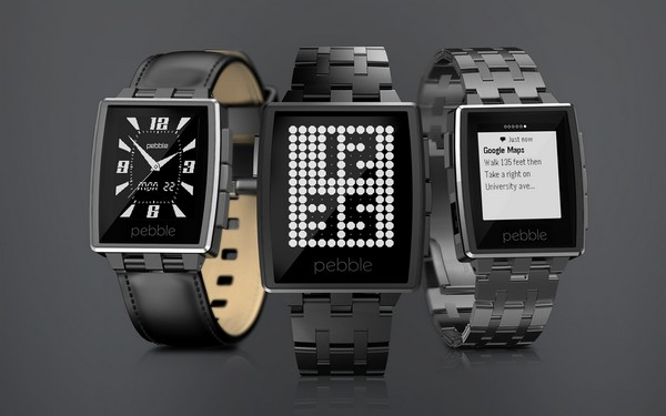 Pebble Steel – умные часы с экраном на электронной бумаге. Источник фото: mashable.com