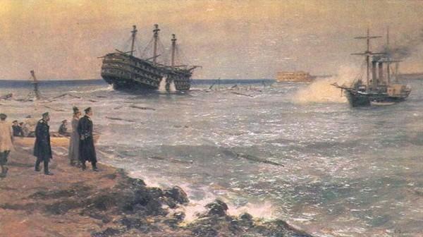 Затопление российских кораблей в Севастополе. Источник фото: blog.i.ua