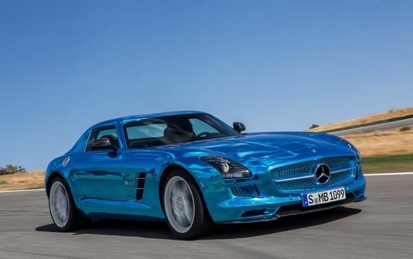 Mercedes-Benz SLS AMG — электрический спорткар от Mercedes-Benz. Источник фото: digitaltrends.com