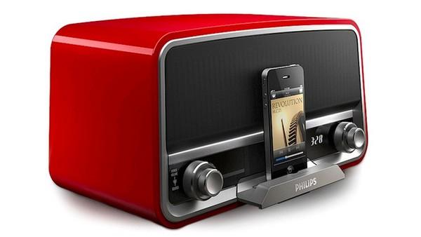 Philips Original Radio – док-станция для смартфонов в виде винтажного радио. Источник фото: mikeshouts.com
