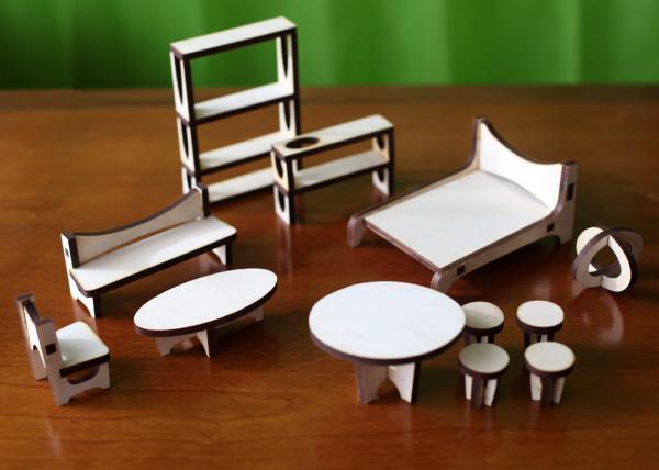 Мебель для оригинального кукольного домика
