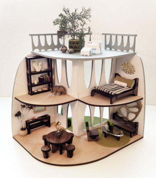 Кукольный домик из балтийской березы от Krista Peel