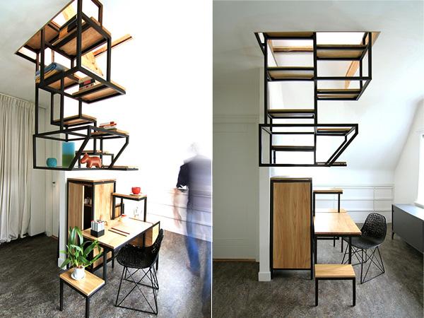 «Промышленная археология» - серия мебели, экономящей пространство.