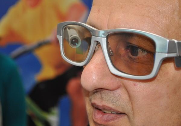 GlassUp – интерактивные очки low-класса. Источник фото: heise.de