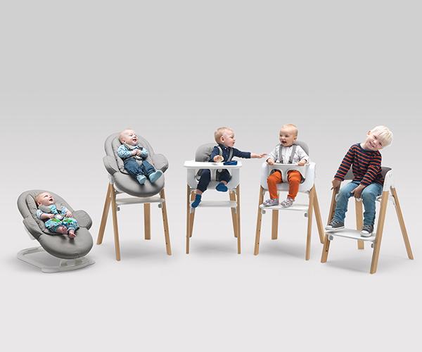 Универсальный детский стульчик, который подстраивается под нужды ребенка от новорожденного до подростка.