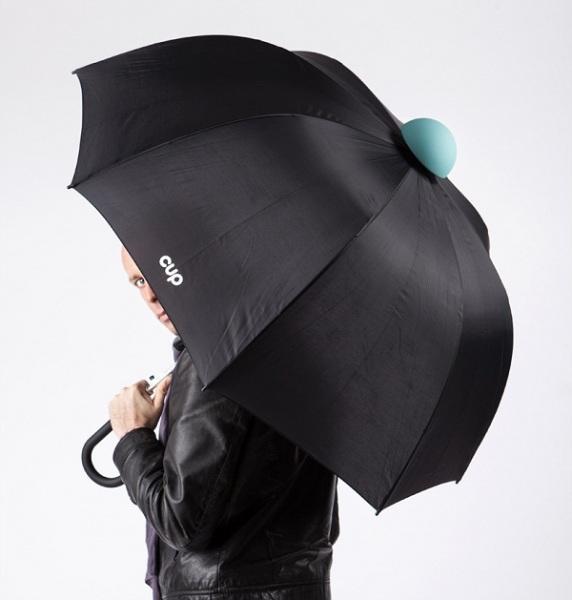 Резиновый наконечник для зонта защищает от луж на полу.