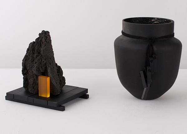 Черная мебель от дизайнеров Formafantasma.