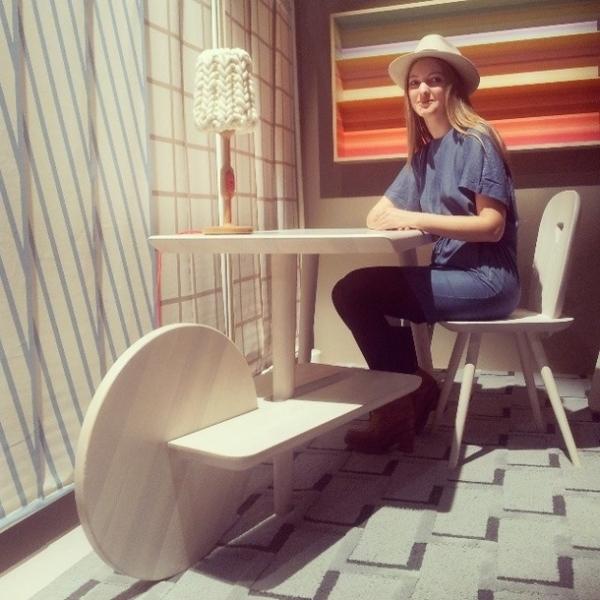 Лера Моисеева и ее стол на выставке в Милане. Фото взято из http://instagram.com/adrussia#