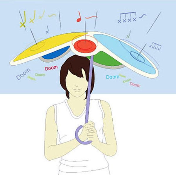 Drumbrella: музыкальный зонт.