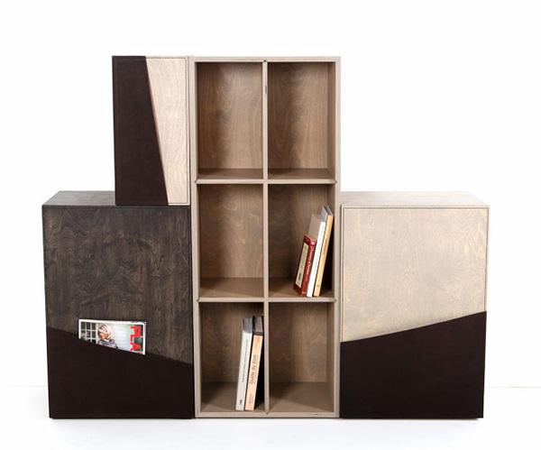 Шкаф из кожи и дерева Pocket Cupboard.