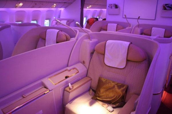 Салон первого класса в Air India