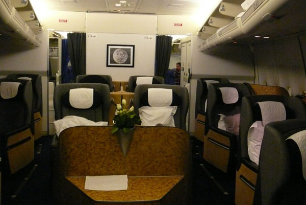 Салон первого класса от British Airways