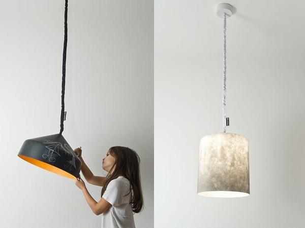 Необычные светильники из разных материалов.