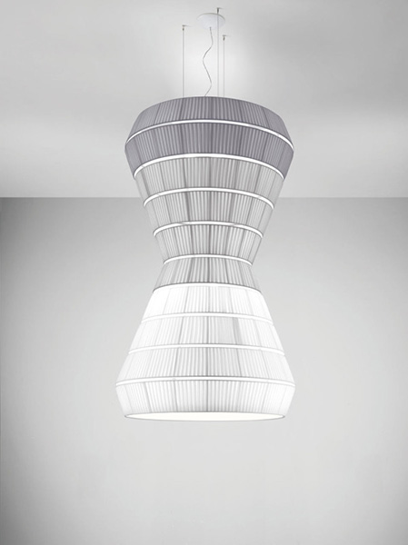 Необычный слоистый светильник.