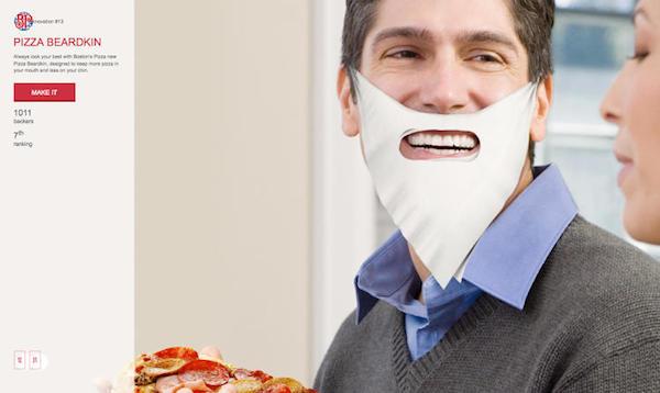 Маска для лица в форме пиццы.