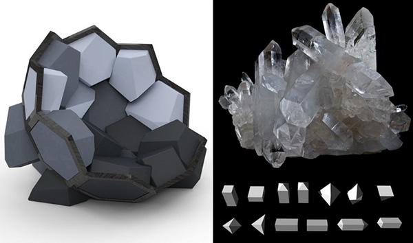 Кресло в форме кристалла от CTRLZAK Art & Design.