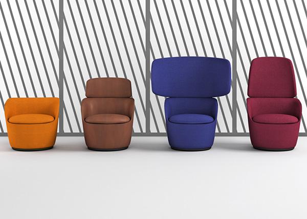 Яркие кресла для уединения.