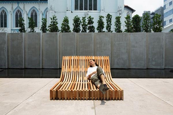 Скамейка для отдыха.