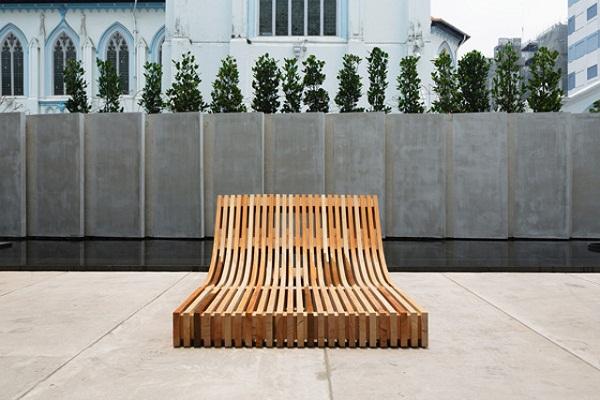 Оригинальная скамейка People's Bench.