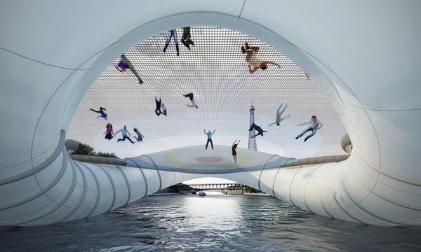 Мост-батут от Atelier Zundel Cristea.