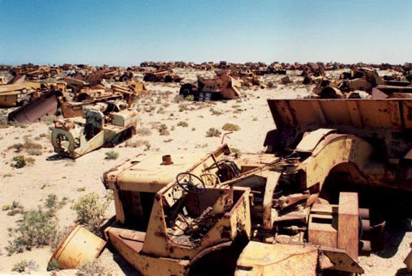 Автомобильное кладбище,  Ораньемунд, Намибия