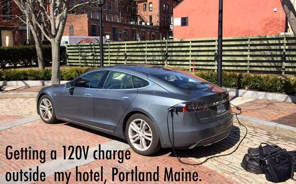 Трансамериканское путешествие на электромобиле Tesla Model S. Источник фото: roadtrip.plugshare.com