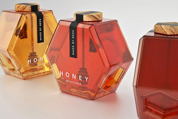 Упаковка для меда 'Сделано пчелами'. Дизайн и идея Maksi Marbuzov.