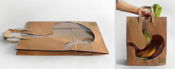 Продуктовая сумка 'Городской урожай'. Идея и дизайн: Andy Winner and One Show Merit.