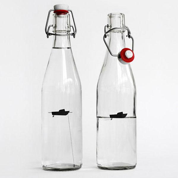 Бутылка для воды 'Рыбацкая лодка'.