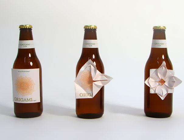Пиво оригами. дизайнер Clara Lindsten.
