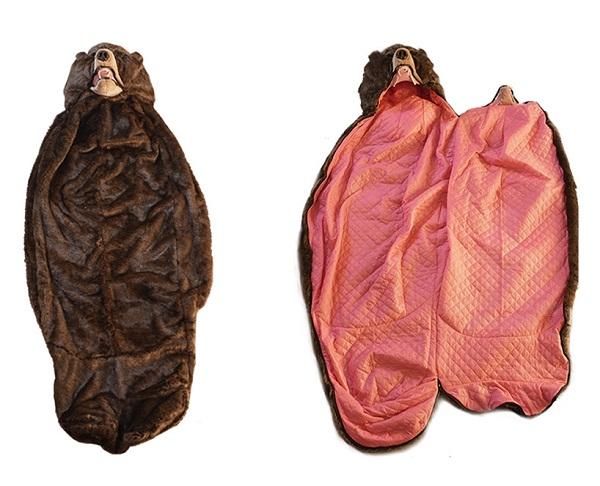 Необычный спальный мешок.