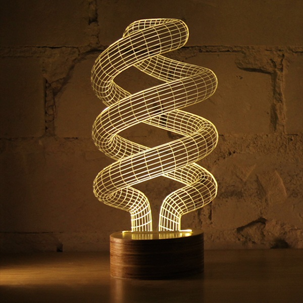 Светильник Bulbing в форме спирали.